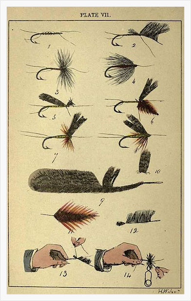 Fly Tying from Rod Fishing by Henry Wade (London 1860)