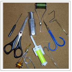 Selected Fly Tying Tools (whip ?nisher on far right), Mike Cline, 2008